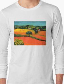 TUSCANY LANDSCAPE  WITH SUNFLOWERS Long Sleeve T-Shirt