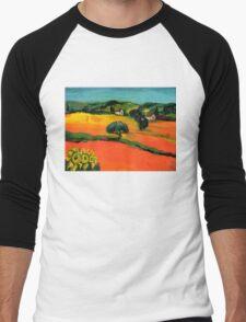 TUSCANY LANDSCAPE  WITH SUNFLOWERS Men's Baseball ¾ T-Shirt