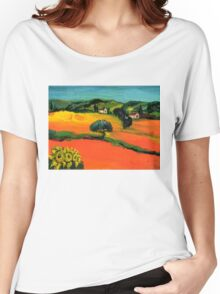 TUSCANY LANDSCAPE  WITH SUNFLOWERS Women's Relaxed Fit T-Shirt