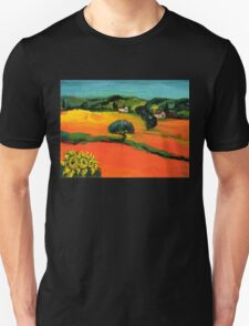 TUSCANY LANDSCAPE  WITH SUNFLOWERS T-Shirt