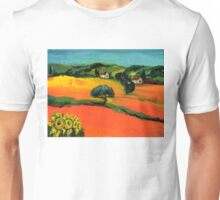 TUSCANY LANDSCAPE  WITH SUNFLOWERS Unisex T-Shirt
