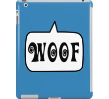WOOF by Bubble-Tees.com iPad Case/Skin