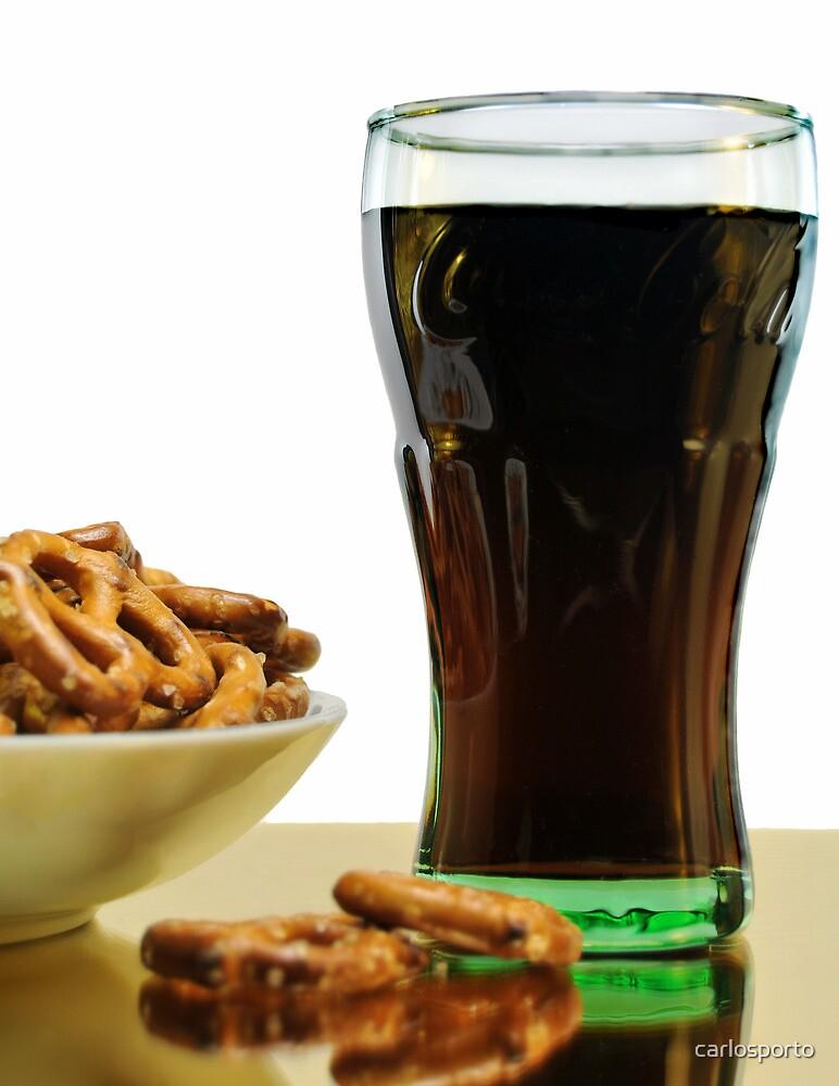 Pretzels and Coke by carlosporto