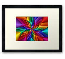 Pinwheel Flower 2 Framed Print