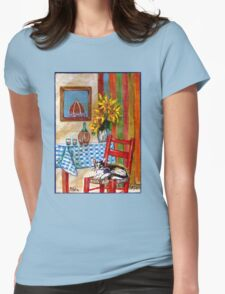 ITALIAN KITCHEN IN FLORENCE Womens Fitted T-Shirt