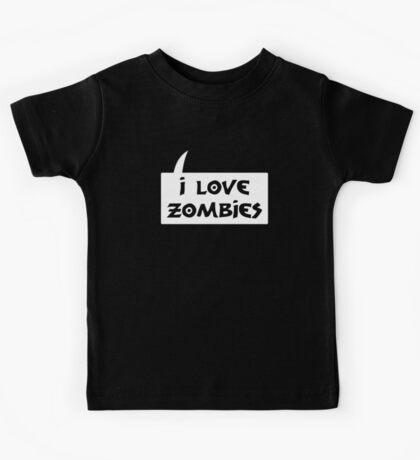 I LOVE ZOMBIES by Bubble-Tees.com Kids Tee