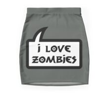 I LOVE ZOMBIES by Bubble-Tees.com Mini Skirt