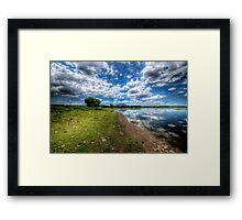 Willow Lake Blue and Green Framed Print
