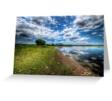Willow Lake Blue and Green Greeting Card