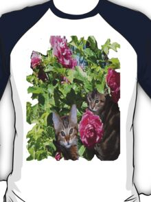 Kittens in The Roses,2 T-Shirt