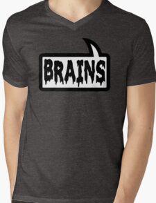BRAINS by Bubble-Tees.com Mens V-Neck T-Shirt