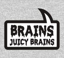 BRAINS JUICY BRAINS by Bubble-Tees.com One Piece - Short Sleeve