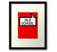 OLD SCHOOL by Bubble-Tees.com Framed Print