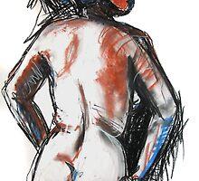 Nude 2 Back Pastel by Deb Miller