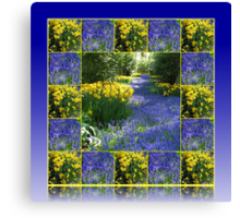 Keukenhof Gardens - Flower Lane Collage Canvas Print
