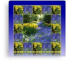 Keukenhof Gardens - Flower Lane Collage Canvas Print