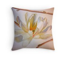 Magnolia III, watercolor on paper Throw Pillow