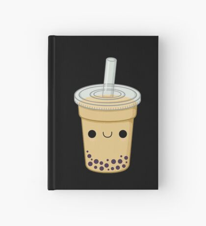 Cute Bubble Tea Hardcover Journal