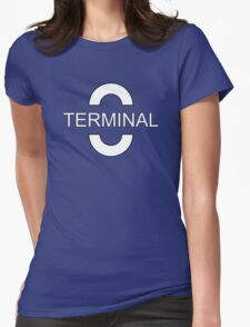 Terminal White Womens Fitted T-Shirt