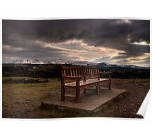 Empty bench Poster