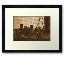 Forgotten items on the windowsill - Upper Plenty Framed Print