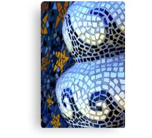 waves in tile Canvas Print