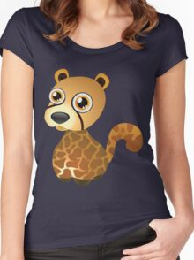 Little pretty leopard Women's Fitted Scoop T-Shirt