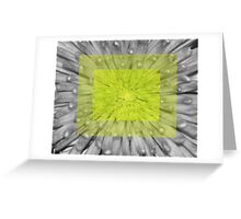Green Squared Greeting Card