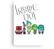 8-Bit Inside Out Canvas Print