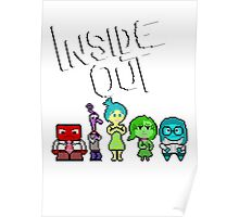 8-Bit Inside Out Poster