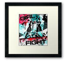 Girl Fight Framed Print