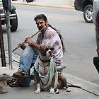 The Man with his Dog...and his Flute. by Misunderstood24