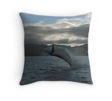 Humpback Breaching Throw Pillow