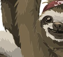 Happy Hanging Sloth Pirate Sticker
