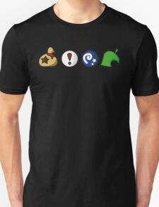 Animal Crossing Items (in many colours!) Unisex T-Shirt