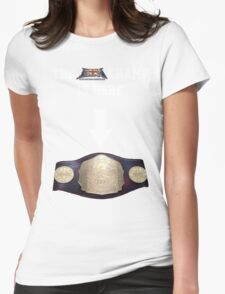EBW - Elite British Wrestling The Champ is Here Womens Fitted T-Shirt