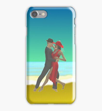 Tango on the beach iPhone Case/Skin
