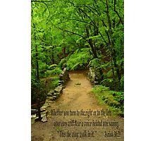 Isaiah 30:21 Photographic Print