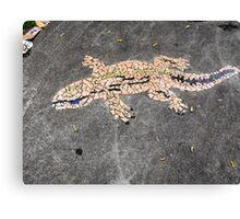 Gecko Mosaic Canvas Print