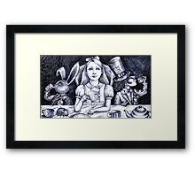 at the tea party  Framed Print