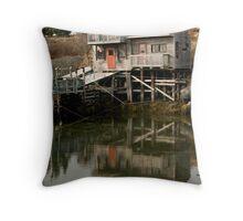 Blue Rocks Nova Scotia Throw Pillow