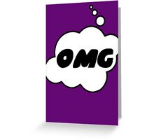 OMG by Bubble-Tees.com Greeting Card