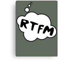 RTFM by Bubble-Tees.com Canvas Print