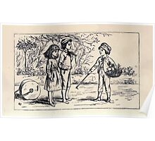 Some Little People George Kringle & Kate Greenaway 1881 0031 Three Children Poster