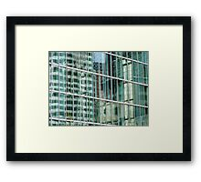 Reflections in Boston Windows  Framed Print