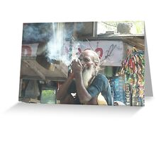 Up In Smoke... Greeting Card