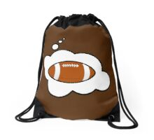 Football by Bubble-Tees.com Drawstring Bag