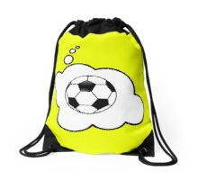 Soccer Ball by Bubble-Tees.com Drawstring Bag