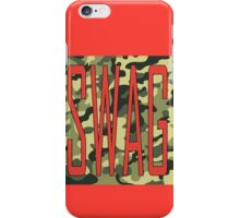 Pink Swag on camo print iPhone Case/Skin