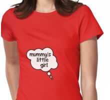 Pregnancy Message from Baby - Mummy's Little Girl by Bubble-Tees.com Womens Fitted T-Shirt